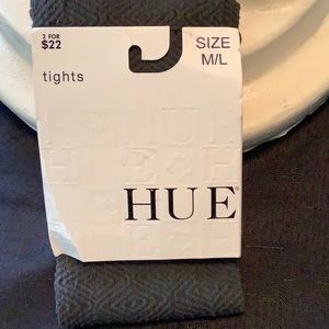 HUE Accessories - Hue Ladies Diamond Maze Tights with Control Top